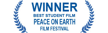 Logo for Winner Best Student Film Peace on Earth Film Festival