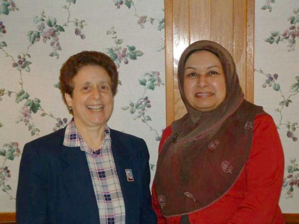 Photo of Audrey Seidman and Dr. Mussarat Chaudhry