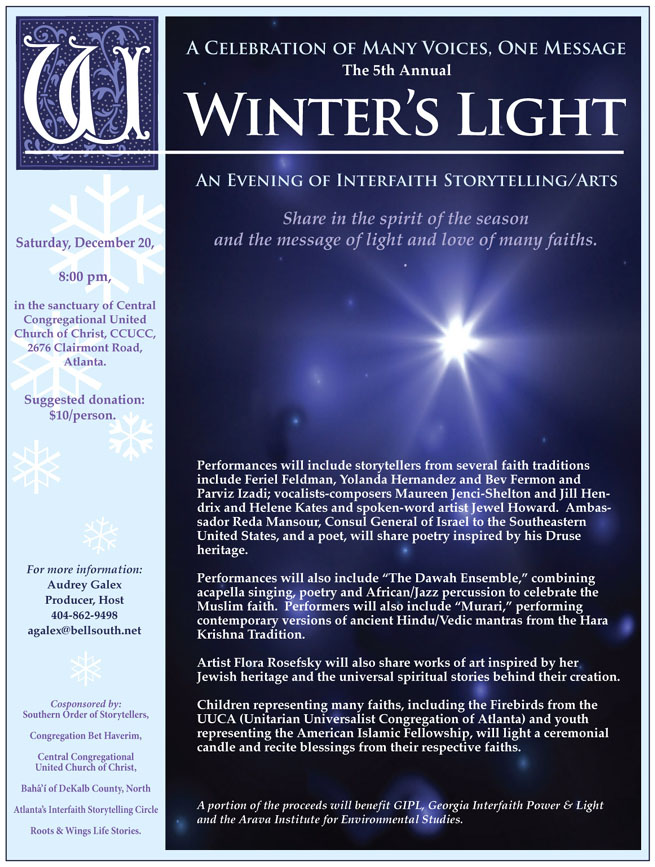 flyer for Winter s Light performance on 12-20-2008