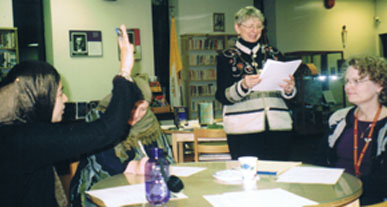 A teacher workshop